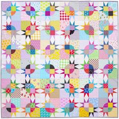 Pickle Dish Variation Quilt - Templates and Foundation Paper Piecing Pattern only (pdf file)