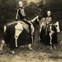 Skeleton Riders, Halloween c.1920