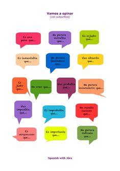 Expresiones de opinión y valoración en subjuntivo. Nivel B2.