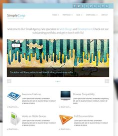 Free SimpleCorp Responsive Drupal Template - Free Template Tuesday has shown up again and this week we are keeping it simple. This Free SimpleCorp Responsive Drupal Theme includes dark and light versions, and code, 15 regions, social networking icons, and Best Free Wordpress Themes, Wordpress Theme Design, Premium Wordpress Themes, Responsive Layout, Social Media Icons, Free Personals, Light In The Dark, Web Design, Blog