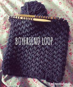Männerloop: Strickanleitung für einen Boyfriend-Loop - schoenstricken.de