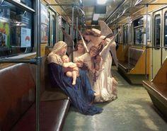 В киевском метро.