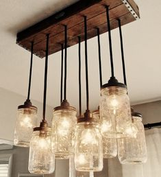 Make your own light fixture from mason jars.  What a cheap, unique way to add light to your apartment!