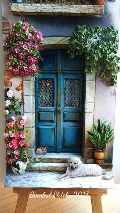 Lovely front of the door#papertole#Sümbül Eldek