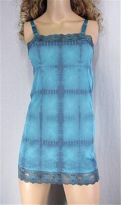 Tie Dye Slip Dress 32 X-SMALL Mod Mini Slip by PlayItAgainGlam