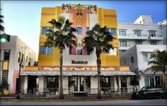 Panoramio - Photo of Art Deco style hotel Ocean Five and restaurant Barolo at 444 Ocean Drive