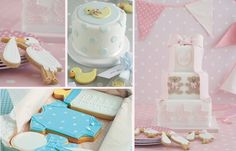 Baby shower cakes and cookies