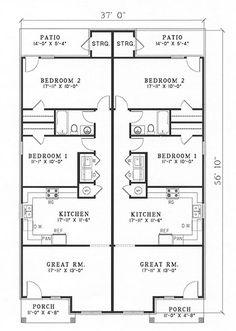 1000 images about multi unit plans on pinterest duplex for Multi unit plans