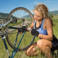 Learn how to fix a flat bike tire, use bike chain lubricant, and more with this bike maintenance guide.