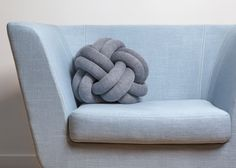 Design House Stockholm puts Knot cushion into production || looks like a cat toy for people  LOL