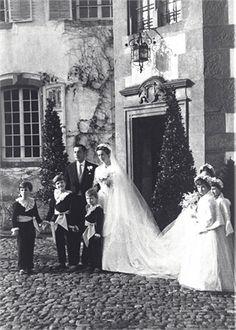 Giovanni and Marella Agnelli wedding in 1953