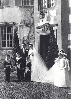 Giovanni and Marella Agnelli wedding in 1953
