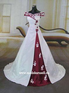 De Luxe Brautkleid Farbig 34 36 38 40 42 44 46 48 50 52 ...60 62 www.modekarusell.eu