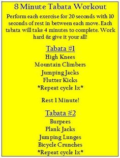Tabata Interval Workout