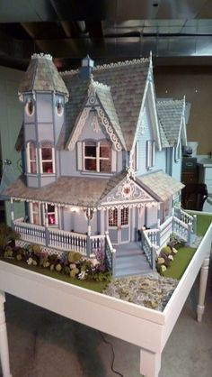 "Front Door of the Pierce miniature dollhouse-""Painted Daisy"":"