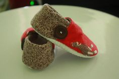 Funky Monkey Sock Monkey Booties Available in size by joeellztoo  Birthday boy will be sporting these! :)