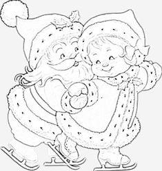 riscos de pintura em tecido para natal com mamae noel - Google Search