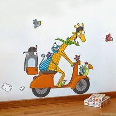 Murals For Kids, Art Wall Kids, Art For Kids, Canvas Wall Art, Painting & Drawing, Wall Drawing, Art Fantaisiste, School Murals, Whimsical Art
