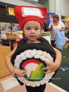 Maki. http://webdelbebe.net/bebe/disfraz-para-bebe-¡sushi-hecho-en-casa-20120131/