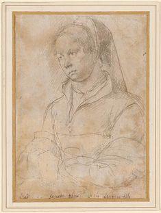 Netherlandish School | Half-Length Portrait of a Woman of the Sassetta Family…