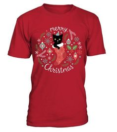 8b1820a339 Merry christmas cat. MERRY CHRISTMAS CAT - Round neck T-Shirt Unisex ...