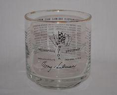 1964 Tony Hulman Indy 500 Highball Libbey Glass Winners 1911-1964 A.J. Foyt