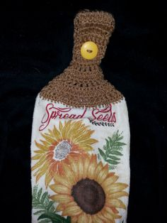 Hey, I found this really awesome Etsy listing at https://www.etsy.com/listing/483343505/hanging-sunflower-dish-towel
