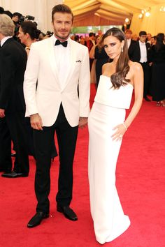 The Beckhams - Chicest Couples at the Met Gala 2014 - Victoria in her own design, David in Ralph Lauren