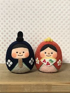 Needle Felting, Wool Felting, Hina Dolls, Felted Wool Crafts, Felt Diy, Diy And Crafts, Coin Purse, Christmas Ornaments, Chai