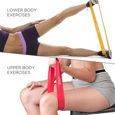 24 Resistance Band Exercises to Work Your Abs, Arms, Legs & Butt - Fitness Today Resistance Band Glutes, Resistance Loop Bands, Short Workouts, Easy Workouts, Mixer Test, Mini Band Exercises, Bridge Workout, Workout Bauch, Workout Guide
