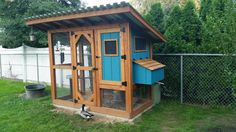 Inspired by Wichita Cabin design Ranch Chicken, Chicken Coops, Hoop House Chickens, Country Chicken, Chicken Coop Designs, Cabin Design, Animal House, Shed, Outdoor Structures