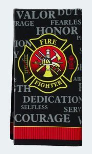 Firefighter Hand Towel~  Great for guest rooms, bathrooms and kitchens~  just in time for Thanksgiving!
