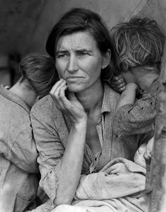 """Dorothea Lange, Migrant Mother, 1936  Source: The Story of the """"Migrant Mother"""" 