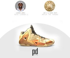 Nike Lebron 11 x Watch the Throne NBA Signature Shoes x Rap Albums