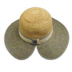 Callanan Two Tone Raffia Sun Hat