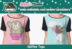 Salad Blog: SaladTurtles - Redbubble Chiffon Tops