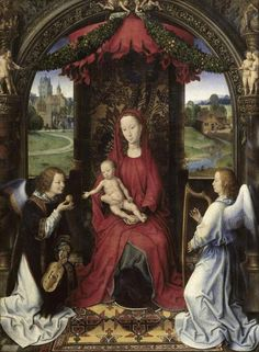 Hans Memling - Madonna and Child With Two Angels - Fine Art Print