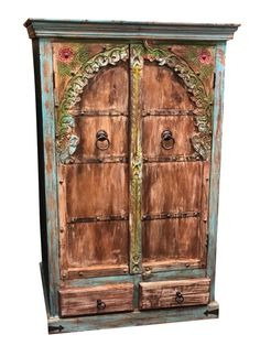 Mediterranean Arch Armoire Indian Handcarved Cabinet For Sale Armoire Cabinet, Antique Armoire, Cabinet Furniture, Kitchen Furniture, Indian Furniture, Cheap Furniture, Discount Furniture, Furniture Ideas, Furniture Nyc