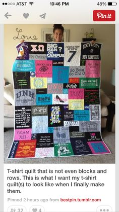 Made this t-shirt memory quilt for my daughter as a gift during ... : graduation quilts ideas - Adamdwight.com