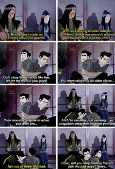 Legend of Korra: he didn't said which part he got right