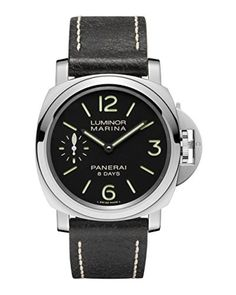Panerai Men's PAM00510 Luminor Marina Analog Display Mechanical Hand Wind Black Watch by Panerai -- Awesome products selected by Anna Churchill