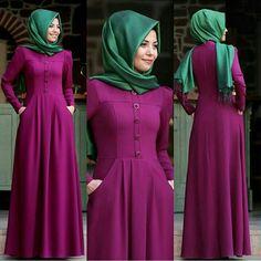 For information whatsapp  05533302701  Site www.modaufku.com Islamic Fashion, Muslim Fashion, Modest Dresses, Nice Dresses, Hijab Abaya, Casual Frocks, Modele Hijab, Muslim Dress, Abaya Fashion