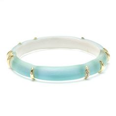 This Hand Carved and Hand Painted Lucite hinged bracelet features crossed barb metal work in Gold Tone. Materials: Hand Ca… Jade Bracelet, Bangle Bracelets, Bangles, Cross Jewelry, Charm Jewelry, Jade Jewelry, Jewelry Accessories, Accesorios Casual, Ancient Jewelry