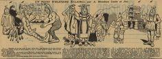 A. Blondeau – Un point d'histoire éclairci (1909) – A. Blondeau fue un dibujante precursor del cómic. Esta historieta de un padre de familia galo y prehistórico en busca de un alojamiento en el que se acepten a sus doce hijos y a sus mascotas, un mamut anciano y un joven diplodocus, tiene unas resonancias curiosamente actuales…