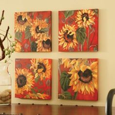 sunflower wall decor | My Sunflower Kitchen! | Pinterest