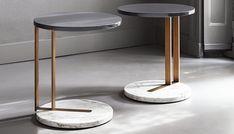 Ralf side table / 17 modern slide under the sofa side tables http://vurni.com/modern-sofa-side-tables/