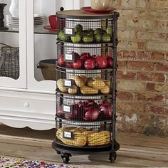 Country Kitchen Decorating Ideas Get creative with how you store some of your kitchen staples. Use metal storage bins to show off fresh produce and colorful linens. It brings an open feel to the space while keeping everything in its own place. Kitchen Pantry, Kitchen Items, Home Decor Kitchen, Interior Design Kitchen, Diy Kitchen, Kitchen Furniture, Kitchen Dining, Rustic Kitchen, Kitchen Layout