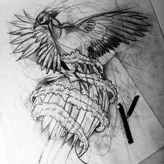 #phönix #anka #sketch #illustration #ink #tattoo #Istanbul #Berlin #dövme #graphic #drawing