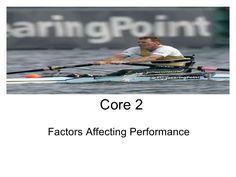 Core 2 Factors affecting performance Energy ssytems