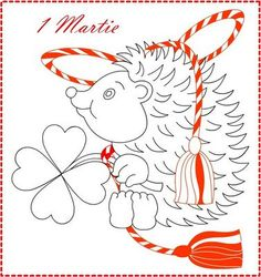 Nicole\'s Free Coloring Pages: 8 Martie * Coloring Spring Greeting ...
